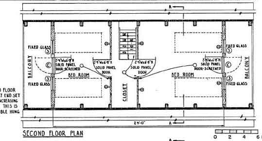 A frame house plan 24 feet high for Free a frame cabin plans