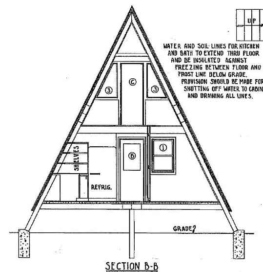 A Frame House Plan With Deck