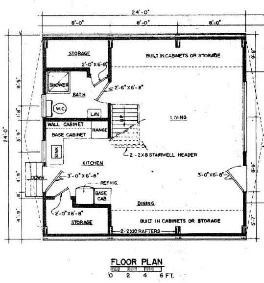 a frame floor plan - A Frame House Plans