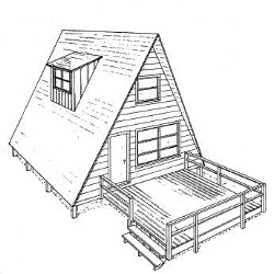 A Frame House Plans with Deck