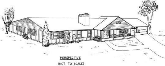 ranch house floor plans 3 br with carport