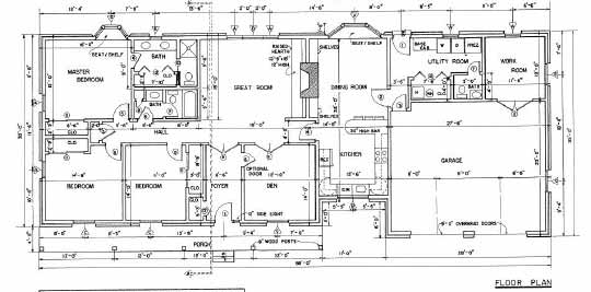 country ranch floor plans