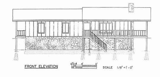 3 BR Ranch House Plans Front Side